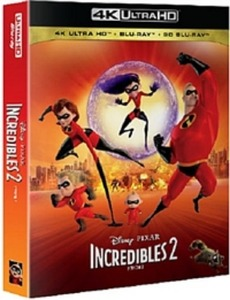 BLU-RAY / INCREDIBLES2 4K STEELBOOK LE (2D+3D+4K UHD)